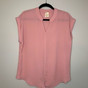 Japna V Neck Blouse Pink Size Medium
